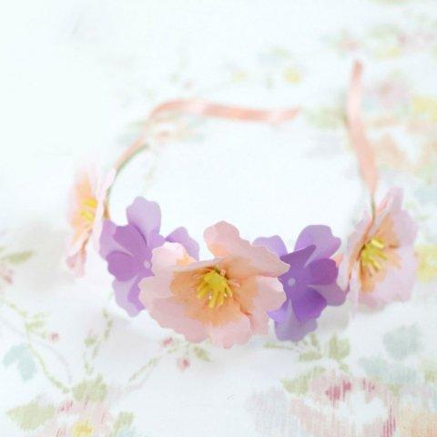 Couronne de fleurs en papier | Réalisation Sizzix