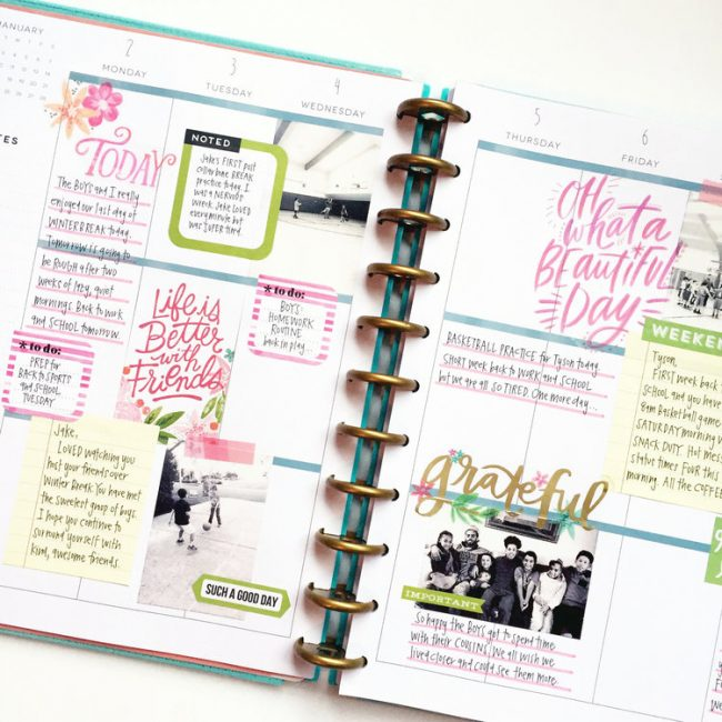 Happy planner 2017 2018 la star des planners addicts for Happy planner ideas