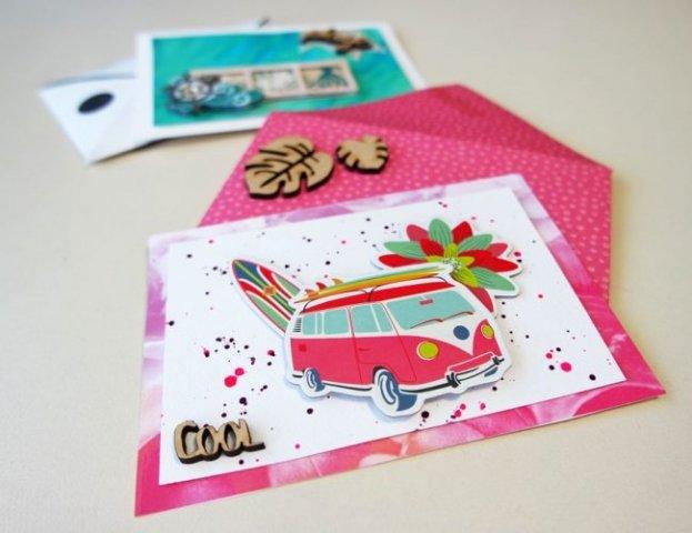 carte postale été vacances challenge scrapmalin