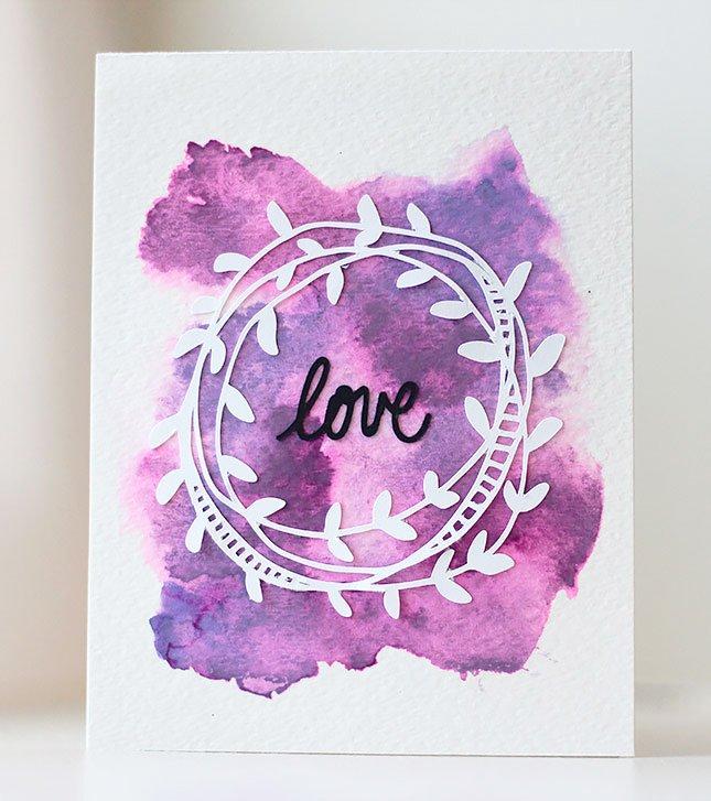 Carte love saint valentin silhouette