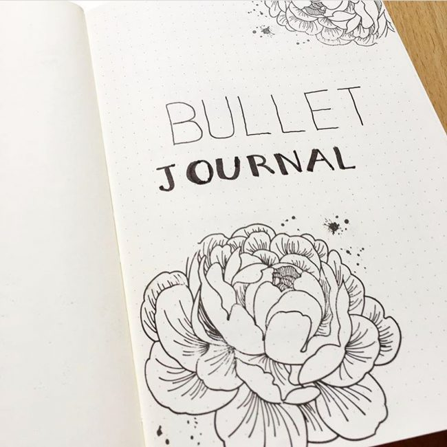bullet journal florileges design