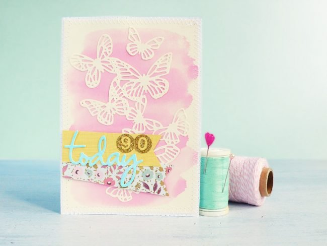 carte sizzix aquarelle