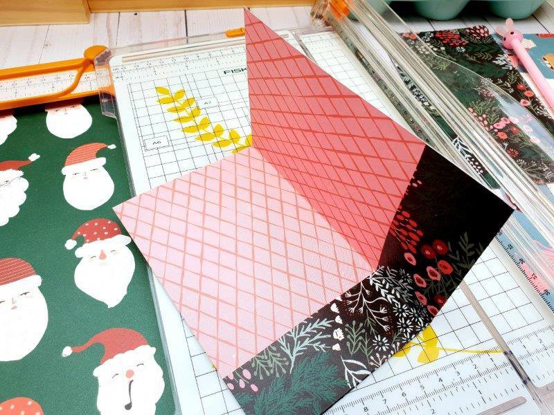 double page horizontale album noel merry days crate paper