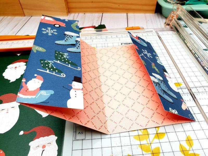 double page verticale album noel merry days crate paper