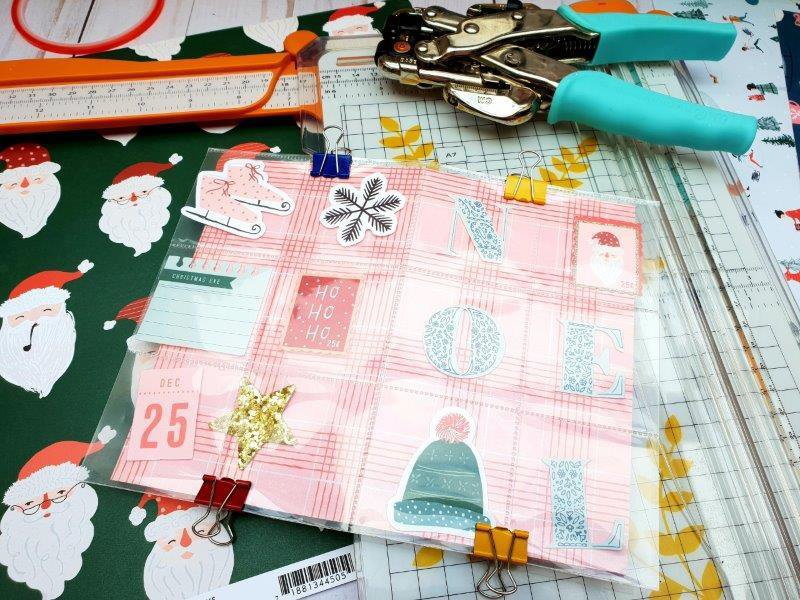 reliure album noel merry days crate paper
