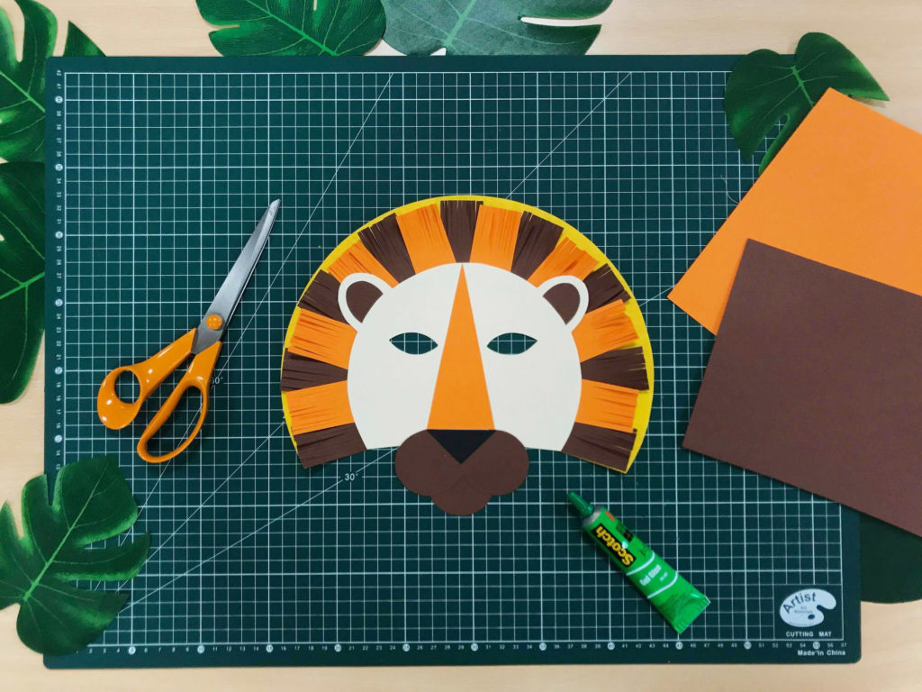 DIY carnaval masque lion